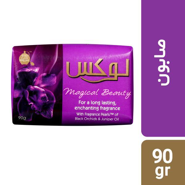 صابون لوکس مدل Magic Beauty  مقدار 90 گرم بسته 6 عددی