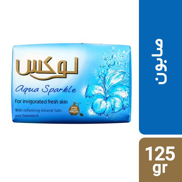 صابون لوکس مدل Aqua Sparkle مقدار 125 گرم بسته 6 عددی