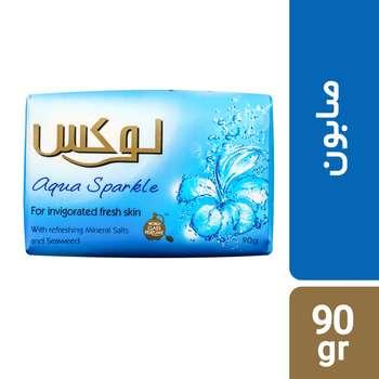 صابون لوکس مدل Aqua Sparkle مقدار 90 گرم بسته 6 عددی