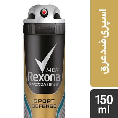 تصویر اسپری ضد تعریق مردانه رکسونا مدل Sport Defence حجم 150 میلی لیتر
