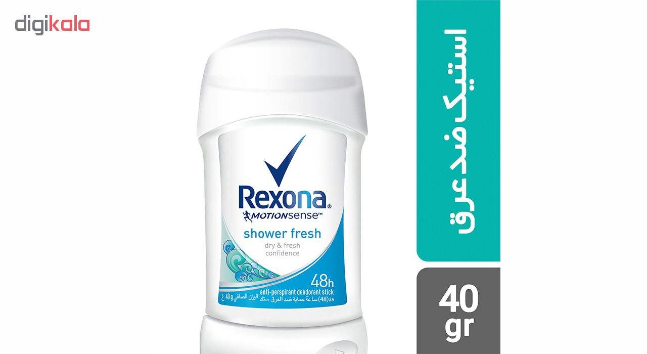 استیک ضد تعریقزنانه رکسونا مدل Shower Clean حجم 40 میلی لیتر  Rexona Shower Clean Stick Deodorant