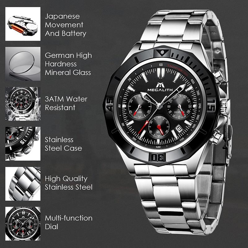 ساعت مچی  مردانه مگالیت مدل 8206-S              اصل