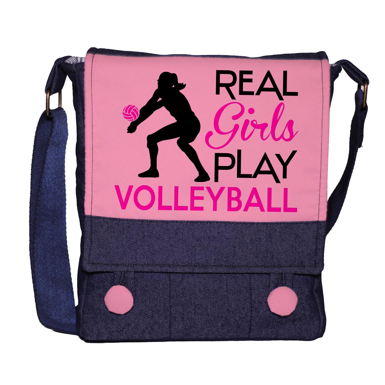کیف رودوشی زنانه گالری چی چاپ طرح والیبالی