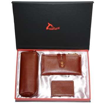 ست هدیه زنانه چرم طبیعی  آدین چرم مدل DS45.A