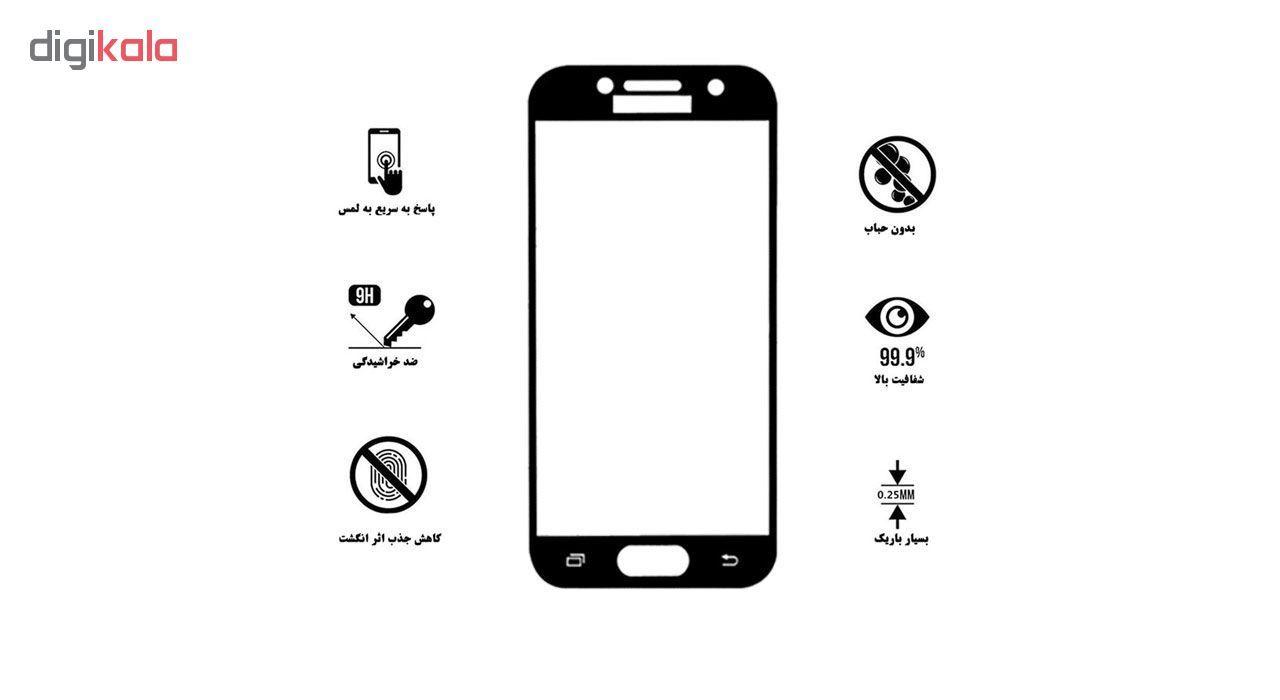 محافظ صفحه نمایش 5D لایونکس مدل USS مناسب برای گوشی موبایل سامسونگ Galaxy A7 2017 بسته دو عددی main 1 6