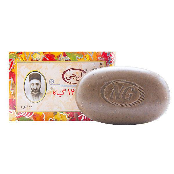 صابون 12 گیاه ان جی مدل herbal وزن 100 گرم بسته 4 عددی