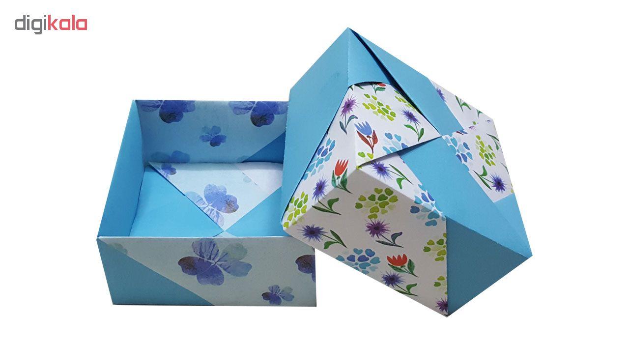 جعبه هدیه مدل اریگامی blue blossoms