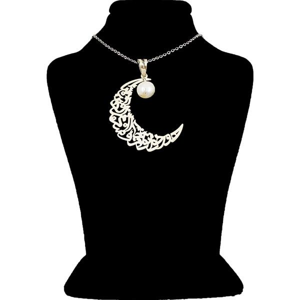 گردنبند نقره زنانه طرح ماه