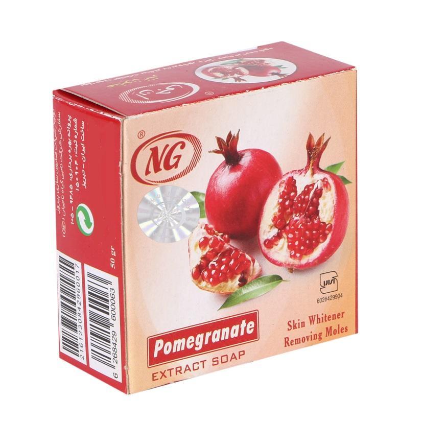 خرید                      صابون انار ان جی مدل Pomegranate وزن 50 گرم بسته 2 عددی