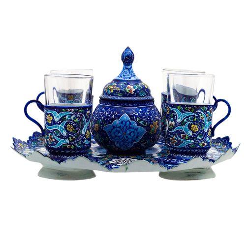 سرویس چایخوری میناکاری رستا طرح 8-18-102