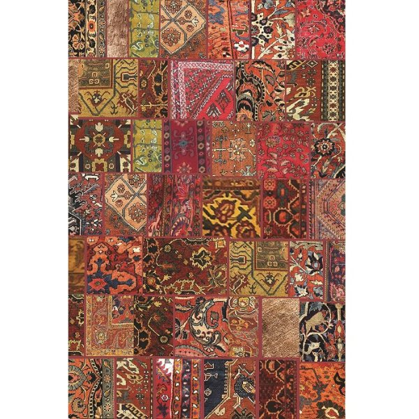 فرش ماشینی فرش ابریشمی کرامتیان طرح آرتینه چهل تیکه کد 5972