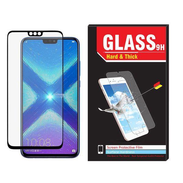 محافظ صفحه نمایش شیشه ای فول چسب مدل hard and thick مناسب برای گوشی موبایل هواوی honor 8X