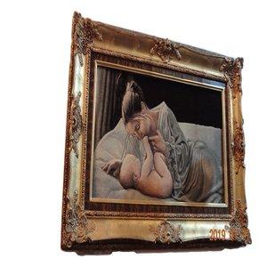 تابلوفرش دستباف طرح مادر و کودک کد 1577