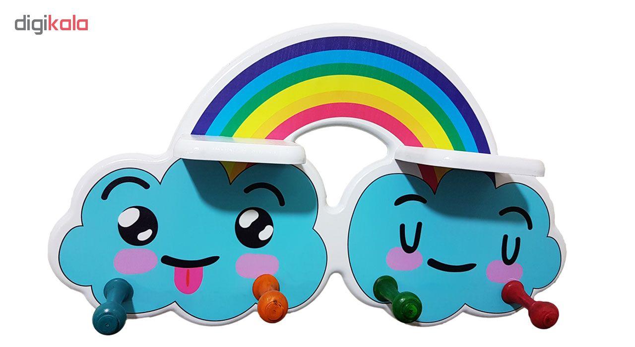 چوب لباسی کودک و شلف کودک مدل Rainbow  main 1 1