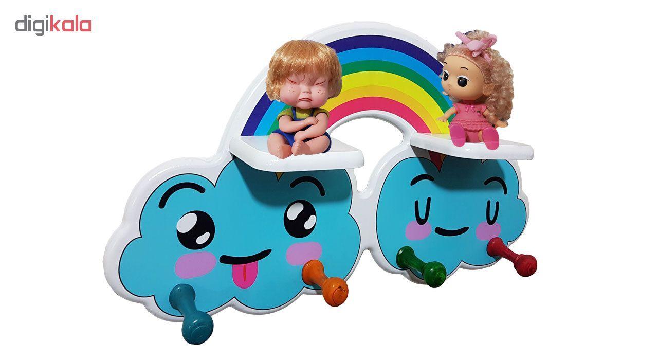 چوب لباسی کودک و شلف کودک مدل Rainbow  main 1 2