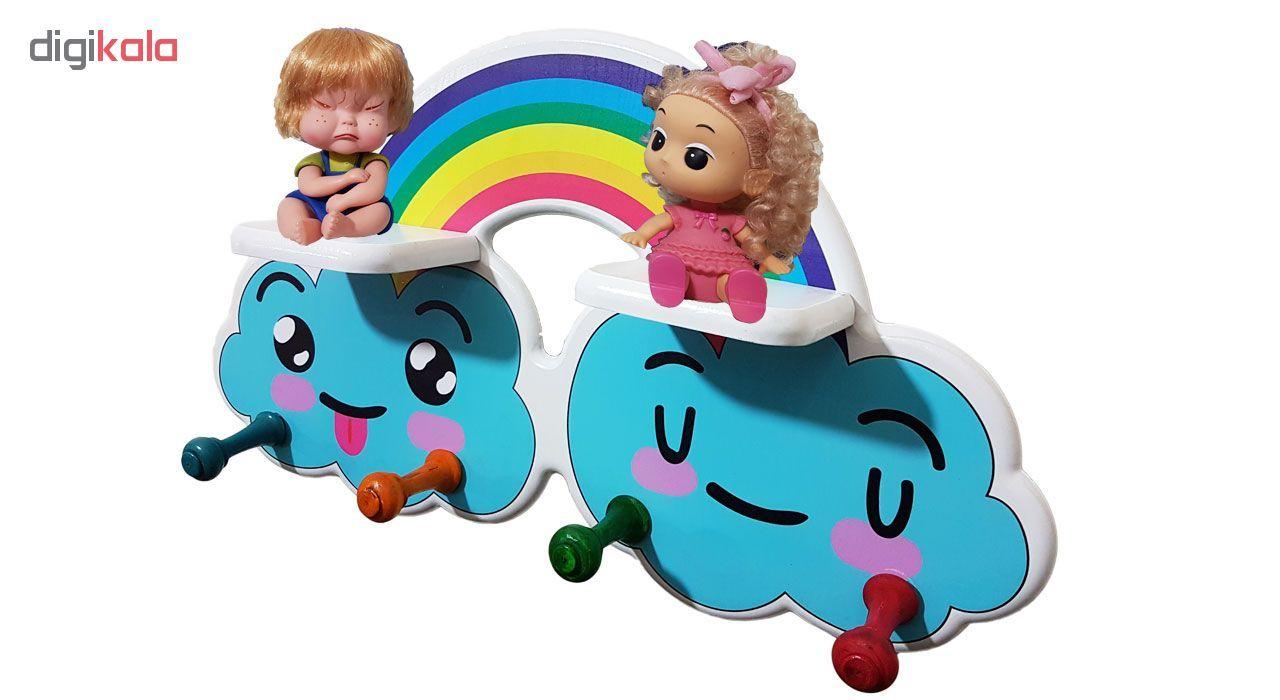 چوب لباسی کودک و شلف کودک مدل Rainbow  main 1 3