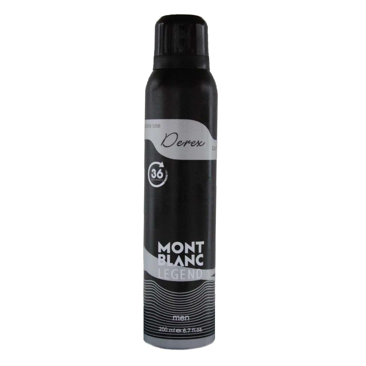خرید اینترنتی اسپری خوشبو کننده بدن مردانه دریکس مدل Mont Blanc Legend حجم 200 میلی لیتر اورجینال