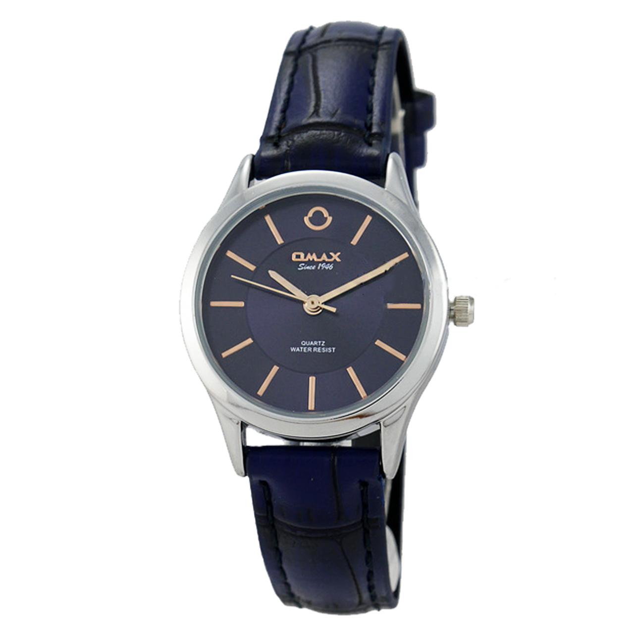 ساعت مچی عقربه ای زنانه اوماکس مدل pr0006 به همراه دستمال مخصوص برند کلین واچ 22