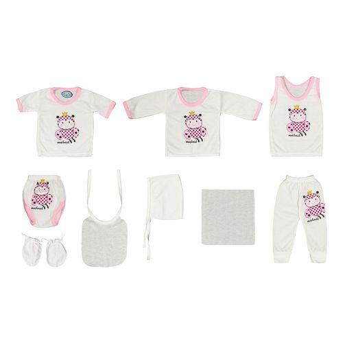 ست 10 تکه لباس نوزادی مهست طرح زنبور کد SU