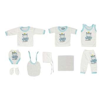 ست 10 تکه لباس نوزادی مهست طرح زنبور کد A |