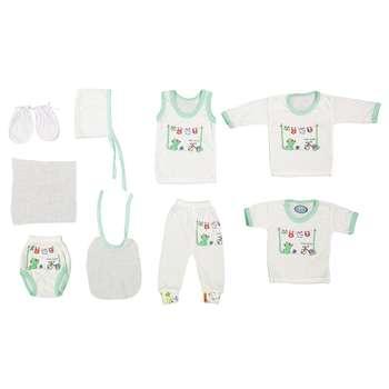 ست  10 تکه لباس نوزادی مهست طرح گربه کد S |