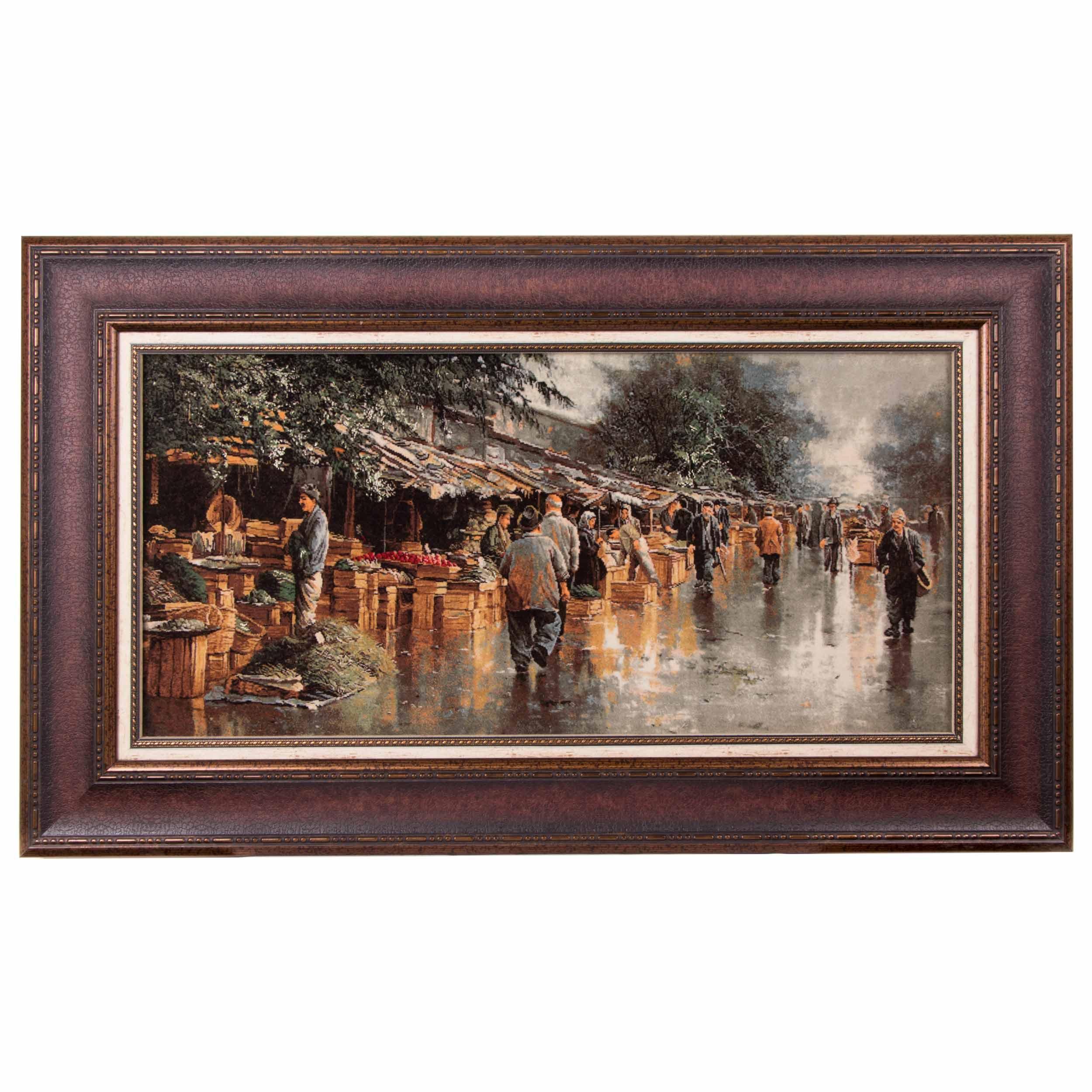 تابلو فرش دستباف بازار انزلی سی پرشیا کد 901572