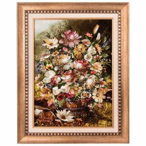تابلو فرش دستباف گل در گلدان سی پرشیا کد 901574