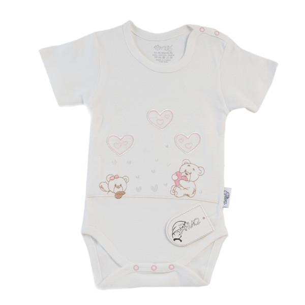 بادی نوزادی دخترانه اونیکس طرح قلب و خرس کد 40 مجموعه 2 عددی