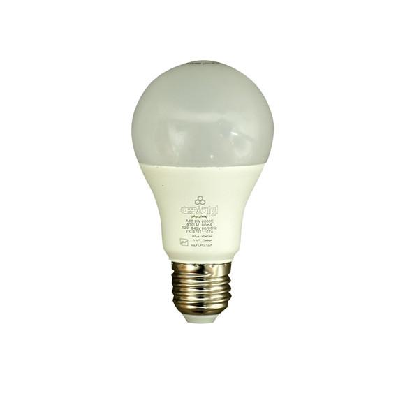 لامپ اس ام دی 9 وات ایران زمین مدل A60