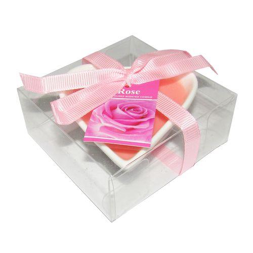 شمع عطری مدل قلب با رایحه گل رز