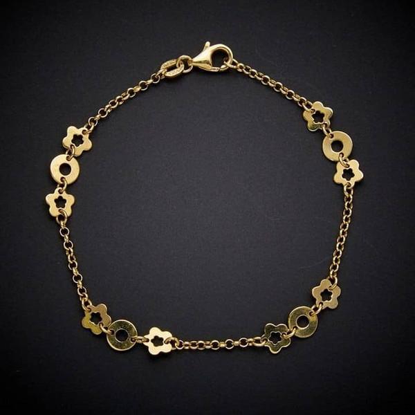 پابند طلا 18 عیار زنانه قیراط کد GH556