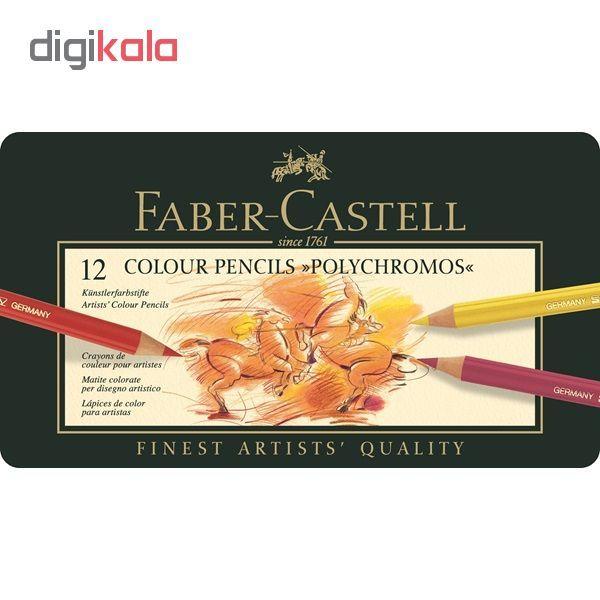مداد رنگی 12 رنگ فابرکاستل مدل پلی کروموس main 1 1