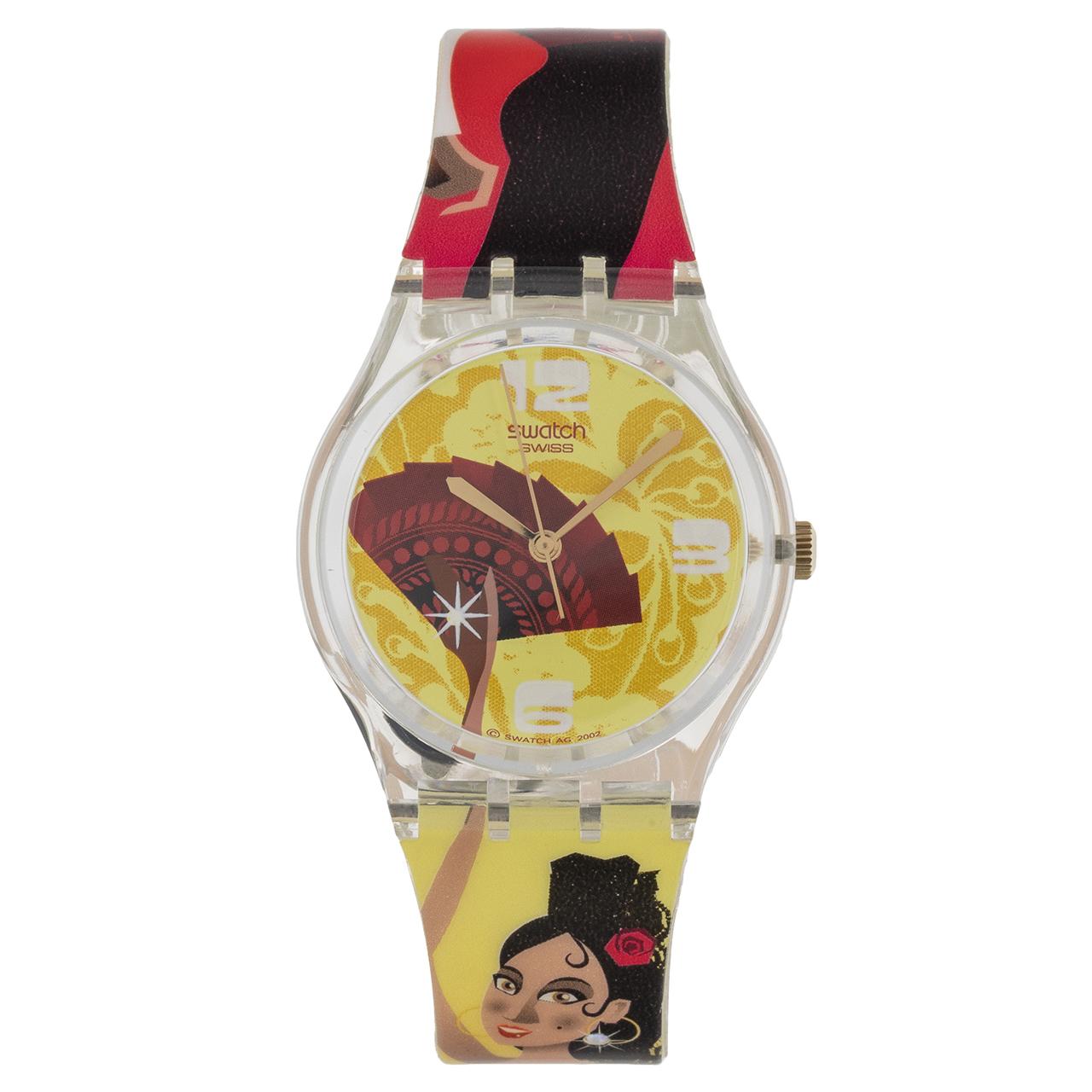 ساعت مچی عقربه ای دخترانه سواچ مدل GE101 54