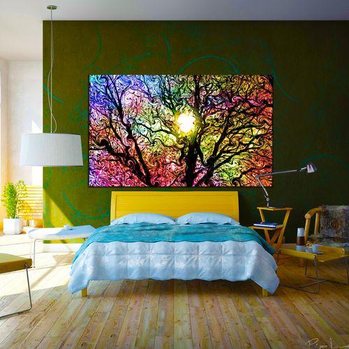 تابلو بوم تیداکس طرح درخت سای غروب کد TiA242