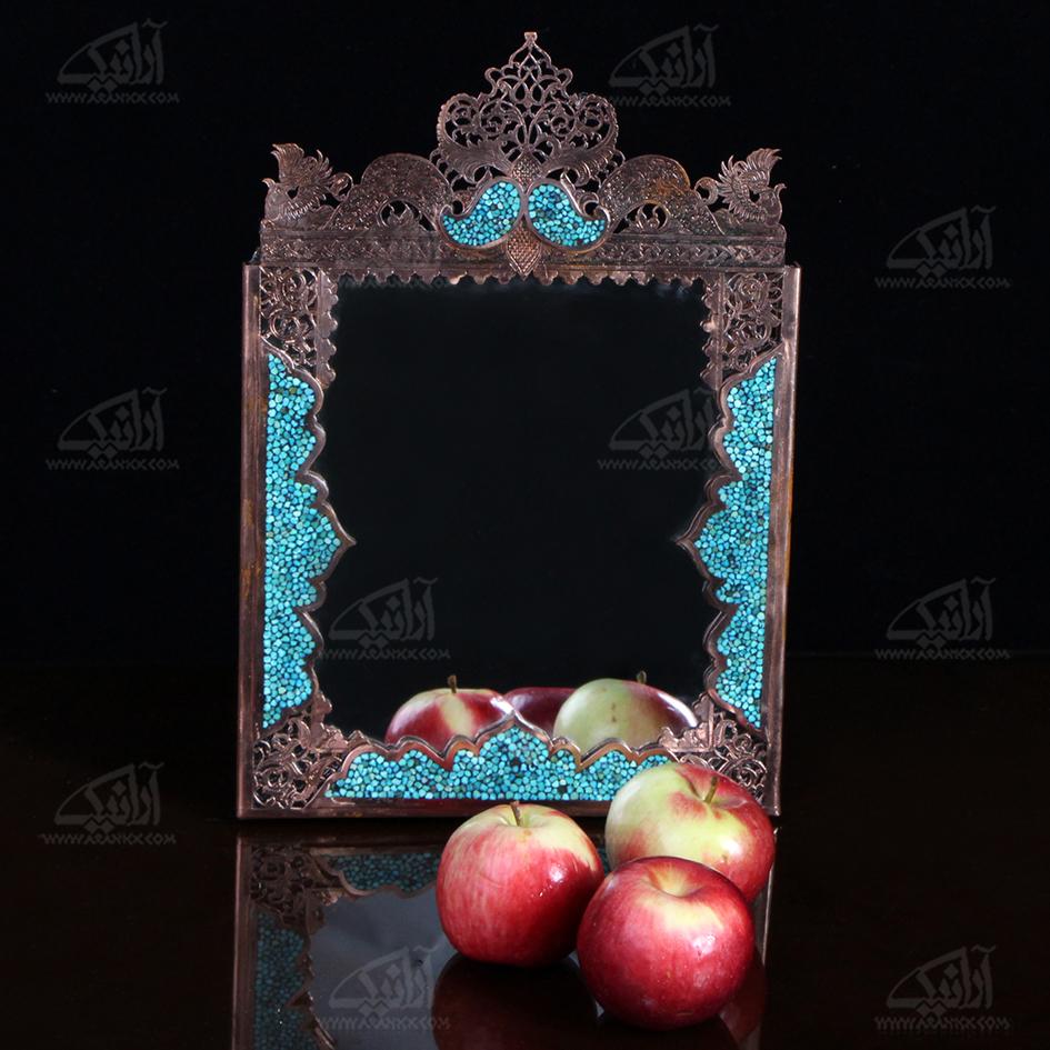 آینه فیروزه کوب  رنگ مسی طرح مشبک  مدل 1509900003