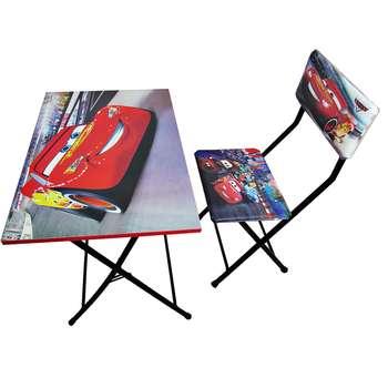 میز تحریر و صندلی طرح مک کویین (وایت بردی،تاشو،تنظیم شونده ارتفاع)