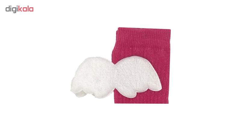 جوراب بچگانه کد 9 رنگ سرخابی