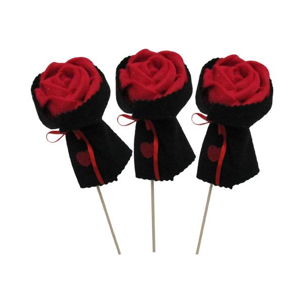گل رز مدل Rose 01 مجموعه سه عددی