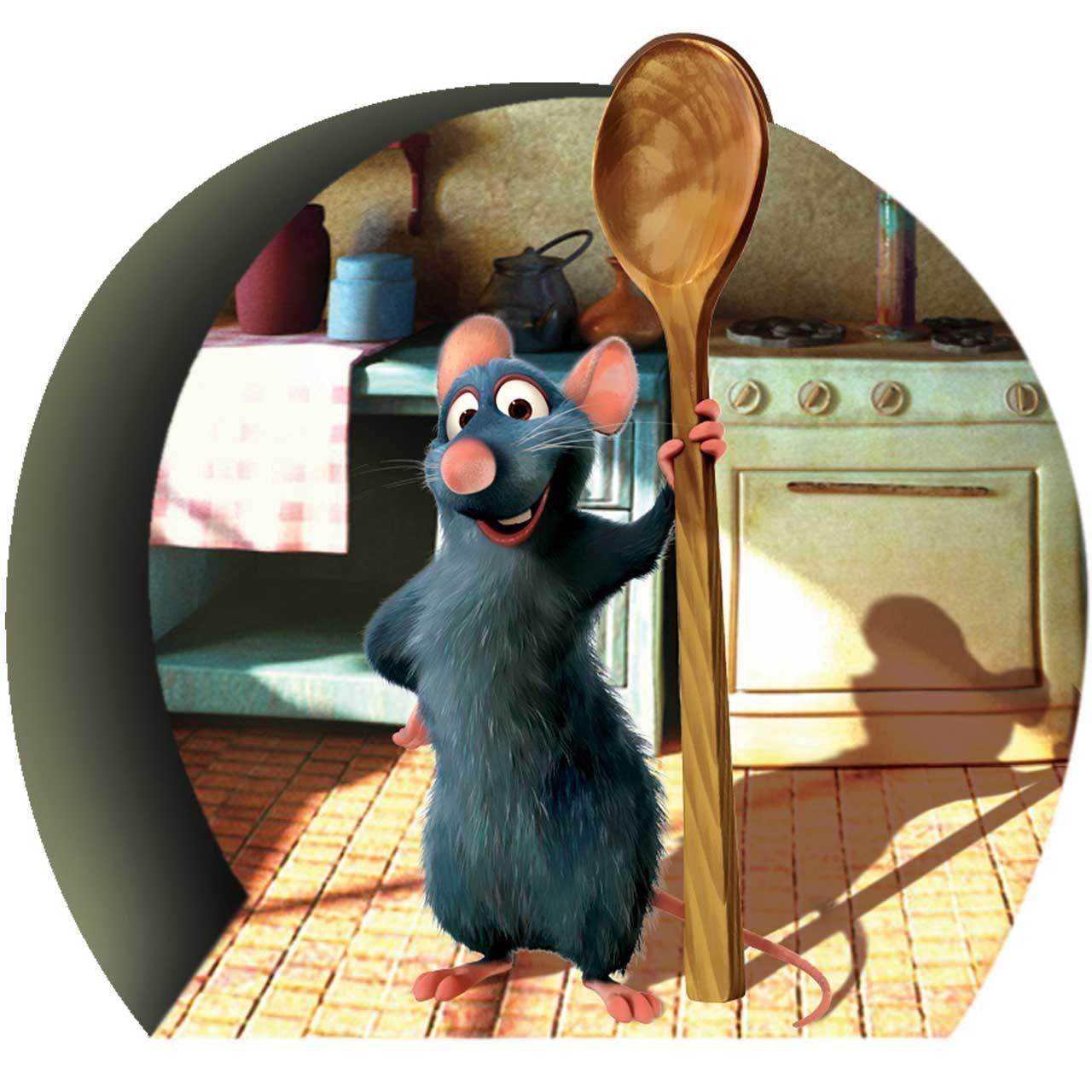 استیکر سه بعدی ژیوار طرح موش سرآشپز