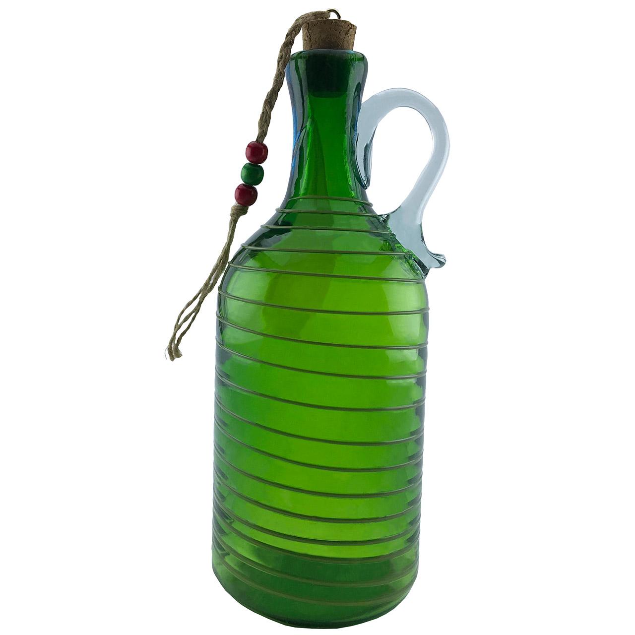 بطری شیشه ای طرح گرد نواری کد 639