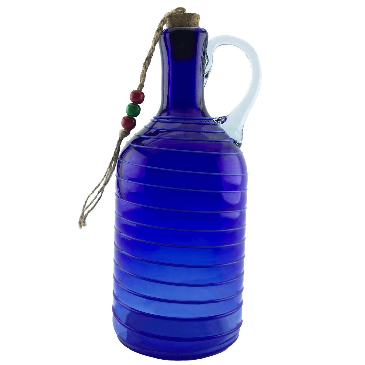 بطری شیشه ای طرح گرد نواری کد 637