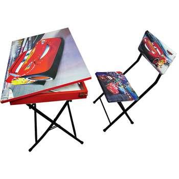 میز تحریر باکسدار و صندلی طرح مک کویین (وایت بردی،تاشو،تنظیم شونده ارتفاع)