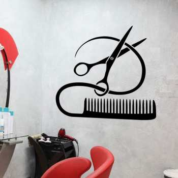 استیکر وی وین آرت طرح آرایشگاه کد S56