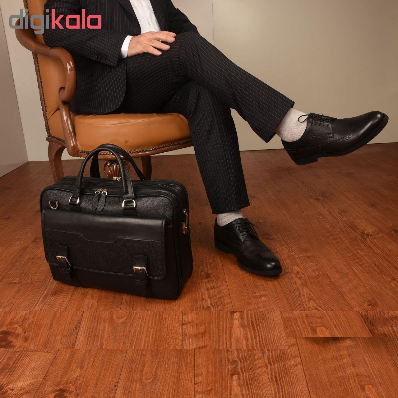 کیف اداری چرم طبیعی کهن چرم مدل L141 main 1 14