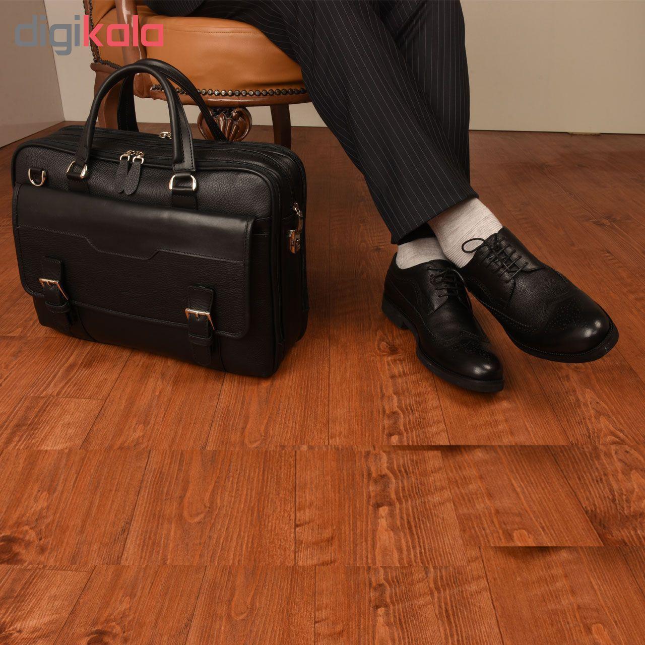 کیف اداری چرم طبیعی کهن چرم مدل L141 main 1 15