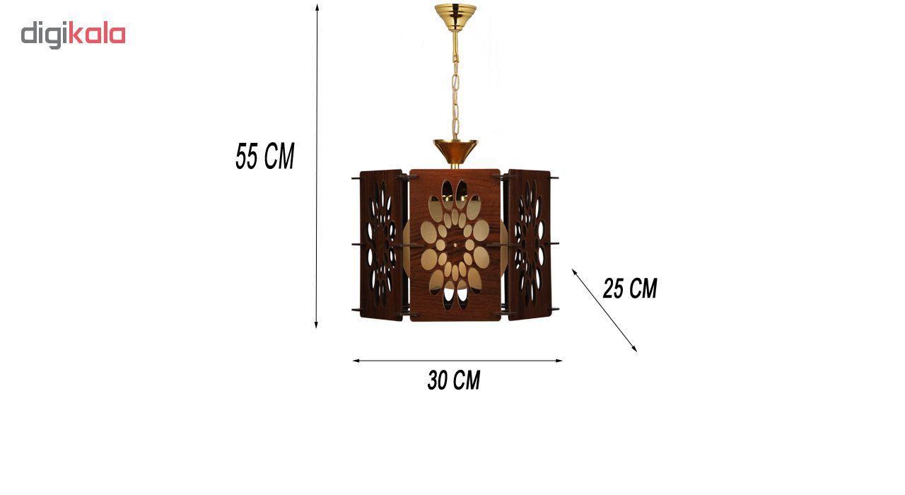 چراغ آویز و لوستر چوبی هامان مدل 204/1