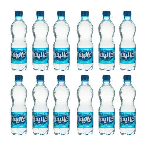 آب معدنی طبیعی بدون گاز عالیس مقدار 500 میلی لیتر بسته 12 عددی
