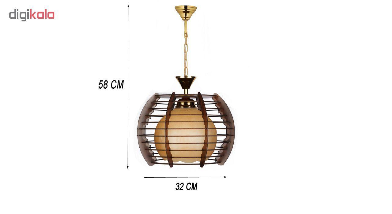 چراغ آویز و لوستر چوبی هامان مدل 1-208
