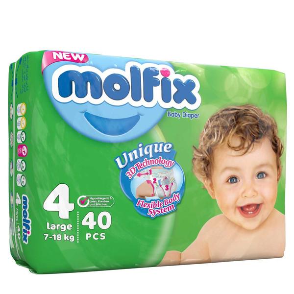 پوشک مولفیکس سایز 4 بسته 6+34 عددی سایز 5
