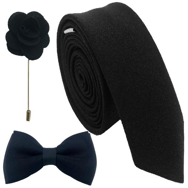 ست کراوات پاپیون و گل کت هکس ایران مدل SET-SM BLK
